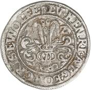 ¼ thaler Ludwig II., Heinrich XXI., Albrecht Georg, Christoph I. et Wolf Ernst – avers