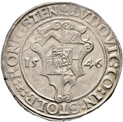 1 thaler Ludwig II. – avers
