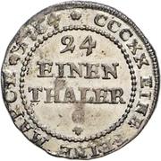 1/24 thaler Friedrich Botho et Karl Ludwig – revers