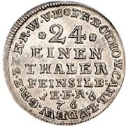1/24 thaler Friedrich Botho et Karl Ludwig – avers