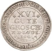 16 gute groschen Christof Friedrich et Jost Christian – avers