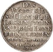 ⅓ thaler Christof Friedrich et Jost Christian (Reformation) – revers