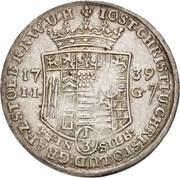 ⅓ thaler Jost Christian et Christof Ludwig II – avers