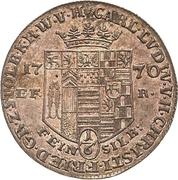 ⅙ thaler Karl Ludwig et Heinrich Christian Friedrich – avers