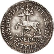 1/48 thaler Jost Christian et Christof Ludwig II – avers