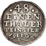1/48 thaler Jost Christian et Christof Ludwig II – revers