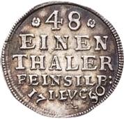 1/48 thaler Christof Ludwig II et Friedrich Botho – revers