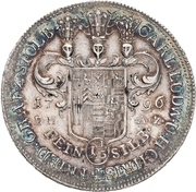 1⅓ thaler Karl Ludwig et Heinrich Christian Friedrich – avers