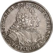 1 thaler Christof Friedrich and Jost Christian – avers