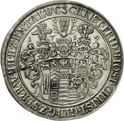 1 thaler Christof Friedrich et Jost Christian – avers