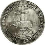 1 thaler Christof Friedrich et Jost Christian – revers