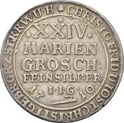 24 mariengroschen Christof Friedrich et Jost Christian – revers