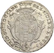 ⅓ thaler Friedrich Botho et Karl Ludwig – avers