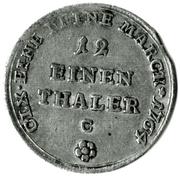 """1/12 Thaler - Friedrich Botho (avec """"C"""") – revers"""