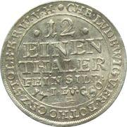 1/12 thaler Christof Ludwig II, Friedrich Botho – avers