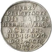 1/12 thaler Christof Friedrich et Jost Christian (Reformation) – revers