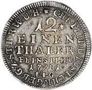 1/12 taler, 1 doppelgroschen Christof Friedrich et Jost Christian – revers