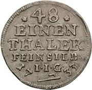 1/48 thaler Christof Friedrich et Jost Christian – revers