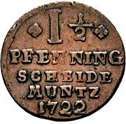 1½ pfenning Christof Friedrich et Jost Christian – revers