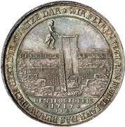 1 thaler Christof Friedrich et Jost Christian (200 ans de réformation) – revers