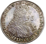 1 thaler Christof Friedrich et Jost Christian (contract de séparation) – avers