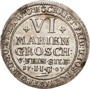 6 Mariengroschen - Christoph Friedrich and Jost Christian (Ausbeute) – avers