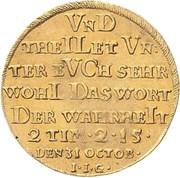 1 ducat Christof Friedrich and Jost Christian (200 ans de Réformation) – revers