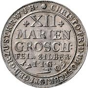 12 Mariengroschen - Christoph Friedrich and Jost Christian (Ausbeute) – avers