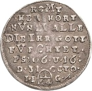 1/24 thaler Christof Friedrich et Jost Christian (Reformation) – revers