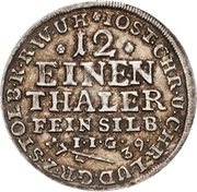 1/12 thaler Jost Christian et Christof Ludwig II – avers
