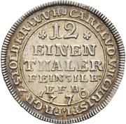 1/12 thaler Karl Ludwig et Heinrich Christian Friedrich – avers