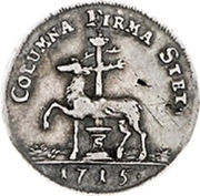 ½ ducat Christoph Friedrich (Frappe essai en argent) – revers