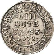8 Gute Groschen - Heinrich Ernst I – avers