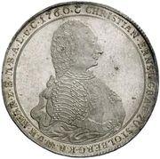 1 Thaler - Christian Ernst I. (50th Years of Reign) – avers