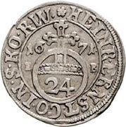 1 groschen Heinrich Ernst I – avers