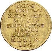 1 ducat Ludwig Christian -  revers