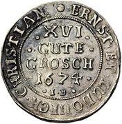 16 gute groschen Ernst et Ludwig Christian – avers