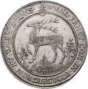 1 thaler Heinrich Ernst I. – avers