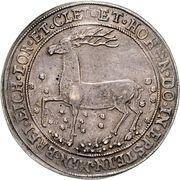 1 thaler Heinrich Ernst I – revers