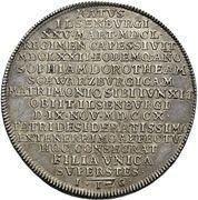1 thaler Ludwig Christian (Mort) – revers