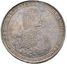 1 thaler Christian Ernst I (Anniversaire de règne) – avers