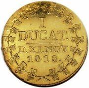 1 Ducat - Christian Friedrich (Noces d'or) – revers