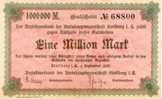 1,000,000 Mark (Amtshauptmannschaft Stollberg) – avers