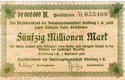 50,000,000 Mark (Amtshauptmannschaft Stollberg) – avers