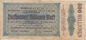500,000,000 Mark (Amtshauptmannschaft Stollberg) – avers