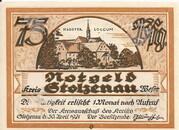 75 Pfennig (Stolzenau) – avers