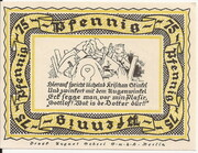 75 Pfennig (Stolzenau) – revers