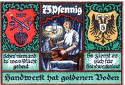 75 Pfennig (Kreis-Handwerkerbund) – revers