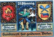 25 Pfennig (Kreis-Handwerkerverbund) – revers