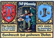 50 Pfennig (Kreis-Handwerkerbund) – revers